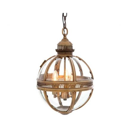 A small spherical lantern with a brass details