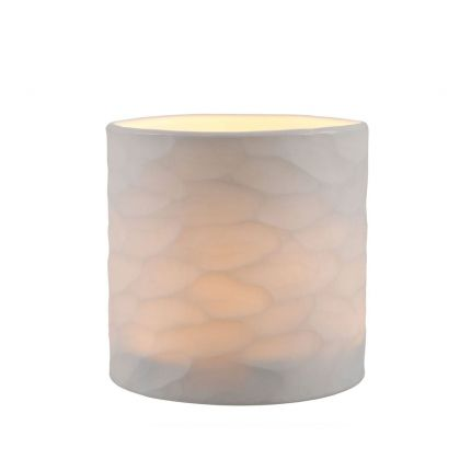 A marvellous and minimal handblown white glass candle holder