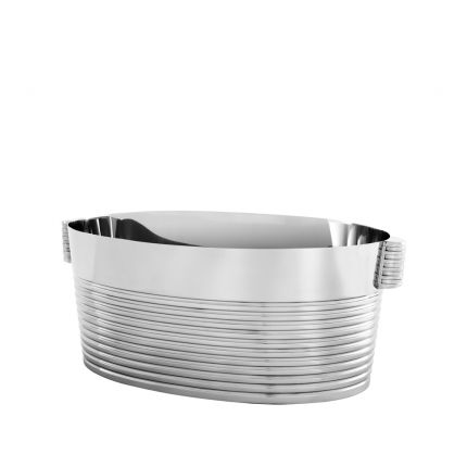 Polished stainless steel champagne/wine cooler