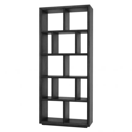 tall charcoal display bookcase