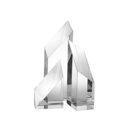 Clear crystal glass decorative sculpture