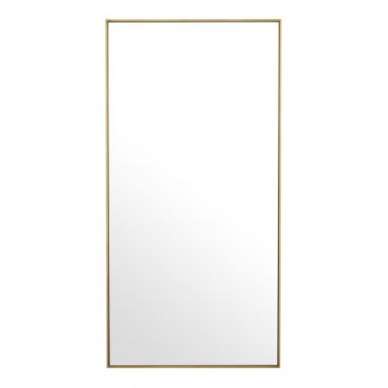 rectangle dressing wall mirror with brushed brass finish