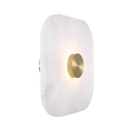 Eichholtz large square alabaster wall lamp with brass finish