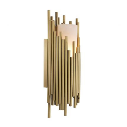 Eichholtz contemporary antique brass and alabaster wall lamp