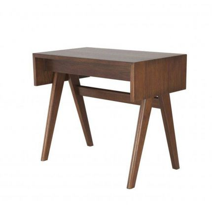 A luxurious danish-inspired desk in a chic brown finish