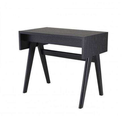 A luxurious danish-inspired desk in a chic black finish