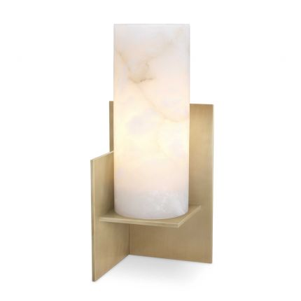 Luxurious Eichholtz alabaster table lamp with antique brass finish