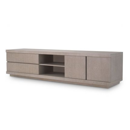 A contemporary washed oak veneer TV Cabinet by Eichholtz