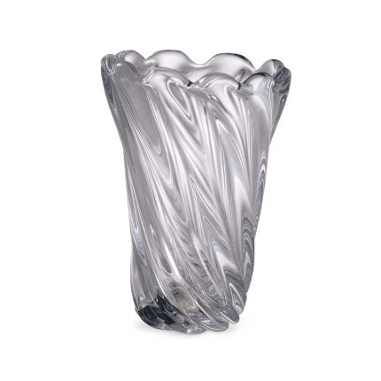 Handcrafted clear glass vase