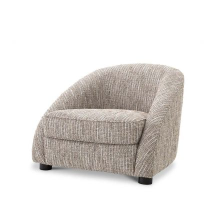 A timeless beige chair with comfortable design and style.