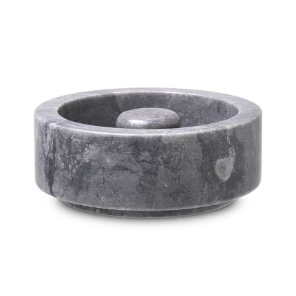 A luxurious grey marble ashtray by Eichholtz with a smooth and sophisticated charm