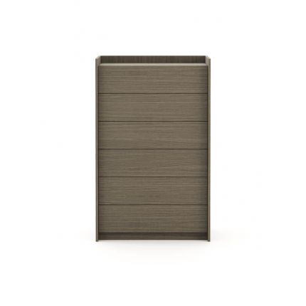 Oak, 6-drawer tallboy with small tray on top surface