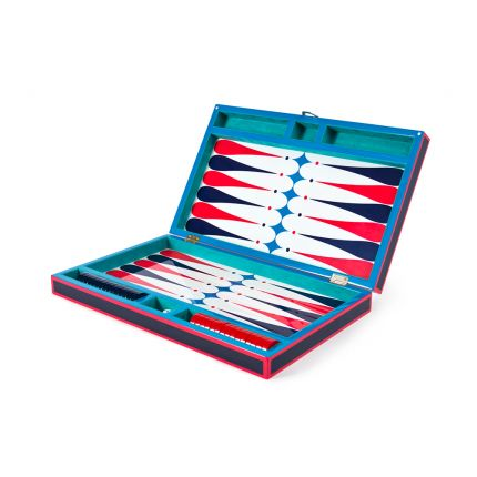 lacquered backgammon game set