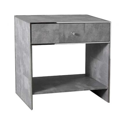 A gorgeous and sleek bedside table