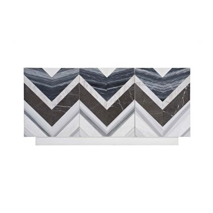 Chic chevron sideboard in multiple colours