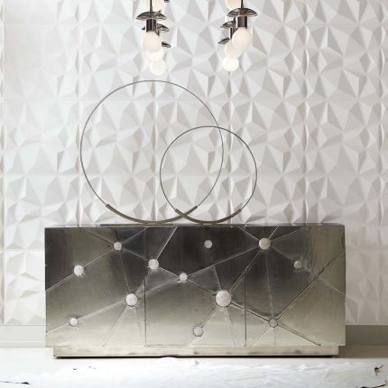 Constellation inspired sideboard with crystal globe details
