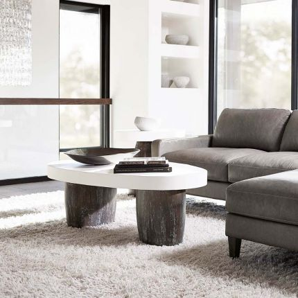 alternative coffee table with contrasting colours