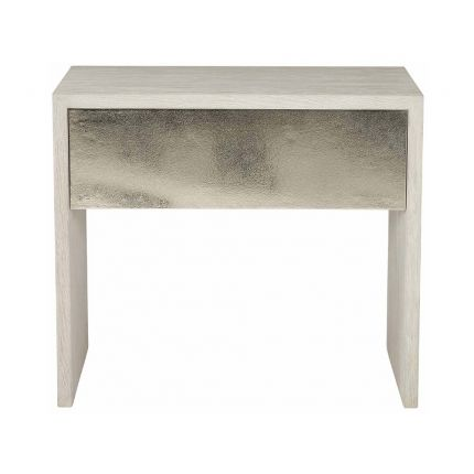 Sleek bedside table with one drawer.