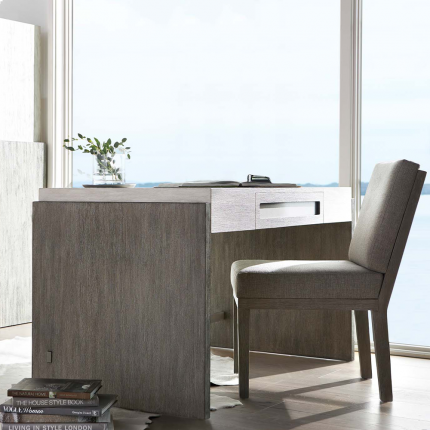 Scandinavian inspired desk with two-toned wood