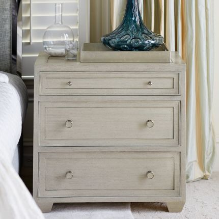 A beautiful, 3 drawer bedside table by Bernhardt.