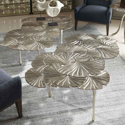 Gingko leaf patterned coffee table