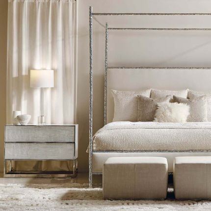A luxurious contemporary bedside table