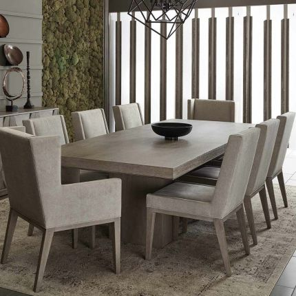 Classic dining table in a greige finish