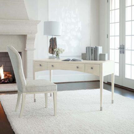 A super chic desk with an elegant, swopping curve feature