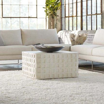 Gorgeous Mediterranean inspired coffee table in a cast concrete