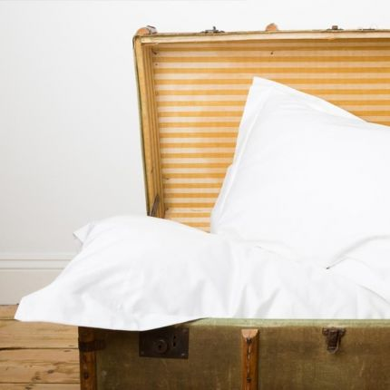 Luxury hotel soft and strong 400tc white oxford pillowcases