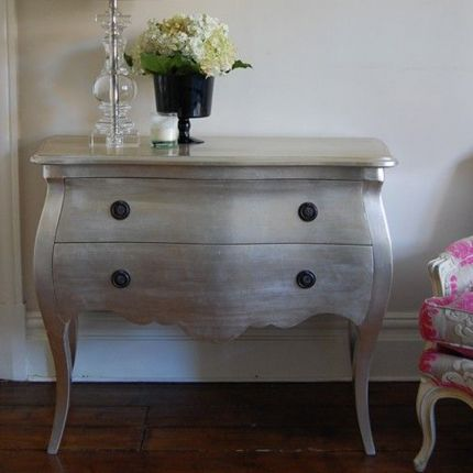 Lotty 2 Drawer Silver Chest