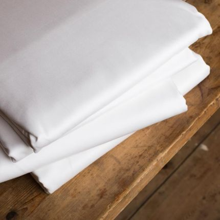 Luxury hotel silk 600tc white fitted sheet