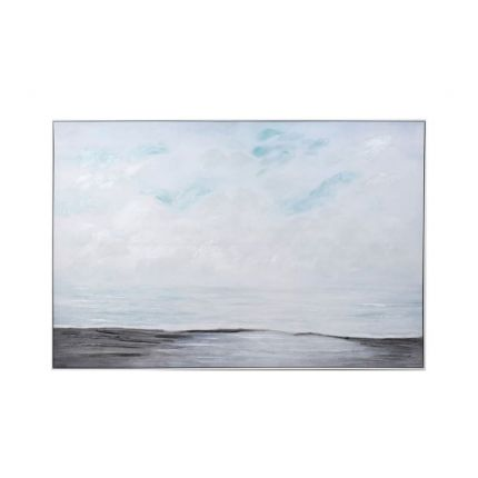 A calming, serene canvas print of the sea and sky