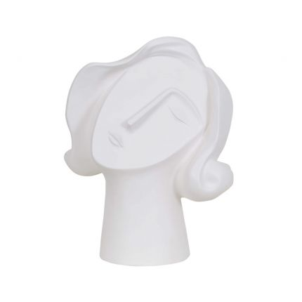 A contemporary and abstract cubism-inspired lady face art deco sculpture