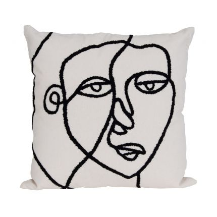 A abstract and contemporary cushion inspired by Picasso