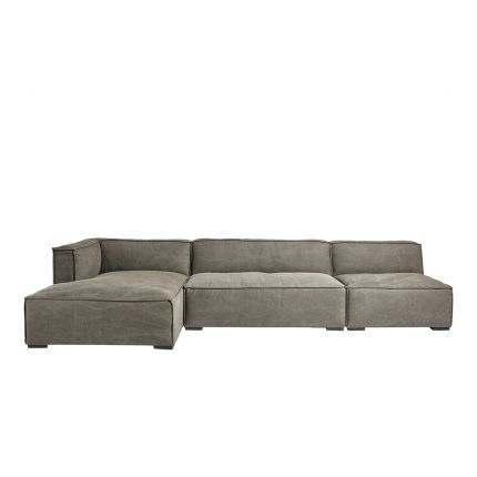 grey corner sofa with removable cover