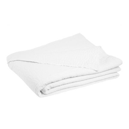 Fabulous 240 x 260cm cotton quilts with hand-stitched finish - available in white, putty and sage