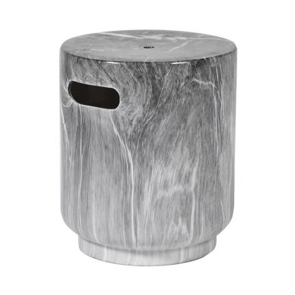 Luxurious taupe marble effect stool