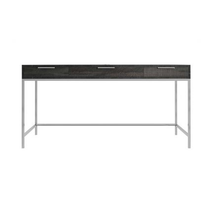Sleek desk with three drawers and industrial influences