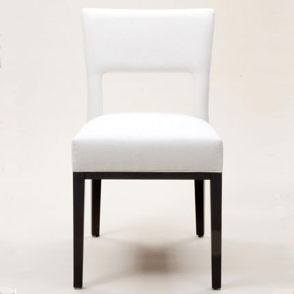 Contemporary dining chair with cut out back