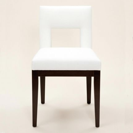 Modern dining chair with cut out design