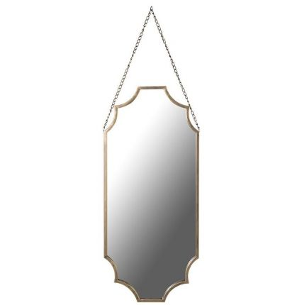 Gold, scalloped shaped wall mirror
