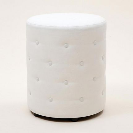 Circular footstool with button detailing