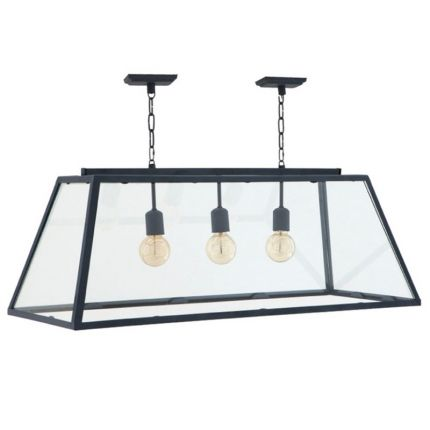 Retro zinc hanging ceiling lamp with 3 bulbs