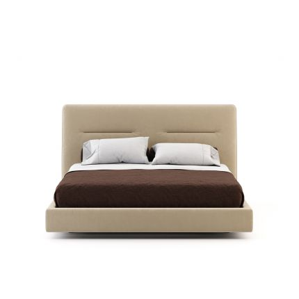 A luxurious contemporary superking bed with contrast details