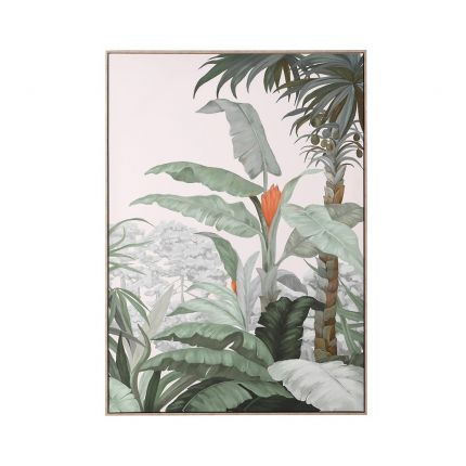 A luscious jungle-inspired print with tropical trees and plants