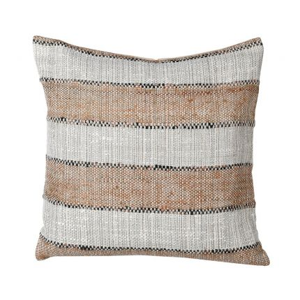A fabulous striped cotton and polyester cushion