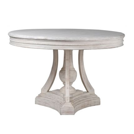 White wash French-style round dining table