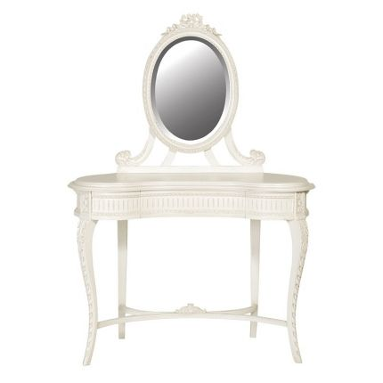Classical White Carved Melissa Dressing Table