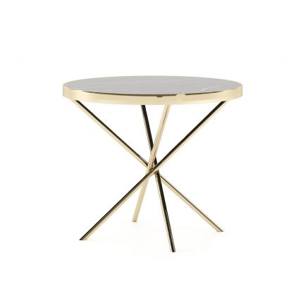 A glamorous black and gold side table by Laskasas